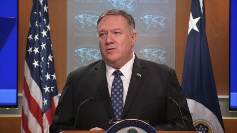 U.S. Secretary of State Pompeo reacts to China