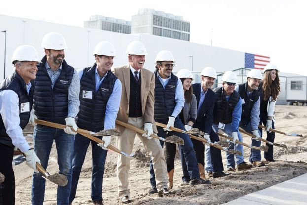 Groundbreaking at the Chobani factory in Twin Falls