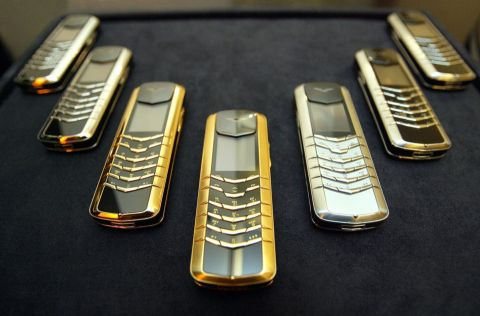 Bling Bling: Vertu's Signature range on display in Singapore in 2004 (Photo: Getty)