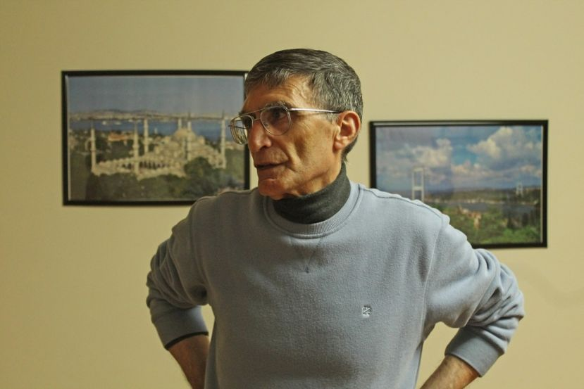 Aziz Sancar stands in the home he owns and runs for students from Turkey to adjust to life at UNC on Wednesday Oct. 28, 2015.