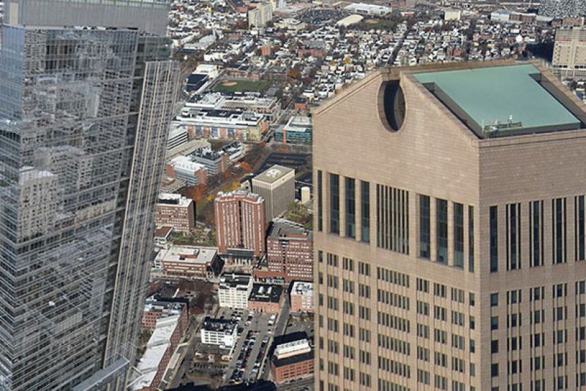 Sales of Russell Investments Center, left, One Kendall Square, back, and 550 Madison Avenue, left, brought in largest resale gains over the past five years.