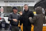 The Oscar-winning actor and filmmaker was seen working with a film crew in the Turkish city on Wednesday