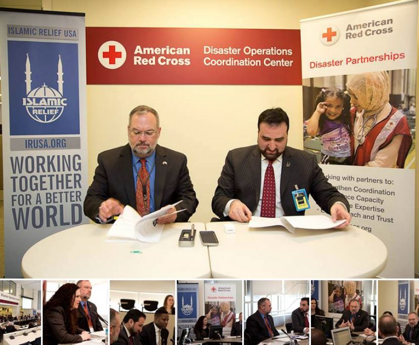 "The American Red Cross and Islamic Relief USA signed the first national Memorandum of Understanding. The American Red Cross and Islamic Relief USA have been working closely together on disaster response and preparedness for nearly three years ""This agreement will advance the shared goal of Islamic Relief USA and the Red Cross to engage and serve diverse communities across the country, prepare individuals and communities for disasters and increase resilience."