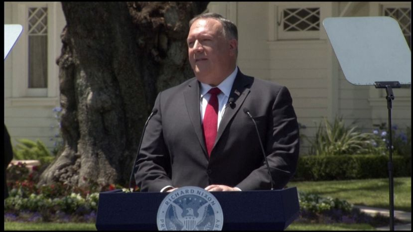 "Secretary Pompeo: ""If We Don't Change China, It Will Change Us""."