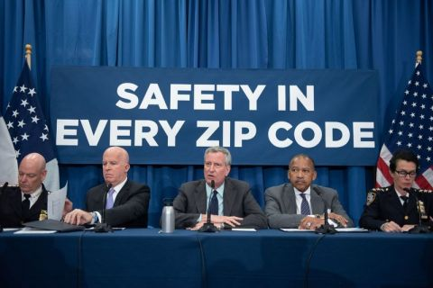 Mayor de Blasio, Commissioner O'Neal Hold a Press Conference on Crime Statistics