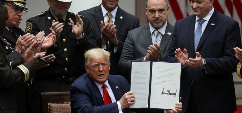 President Trump signs executive order on police reform