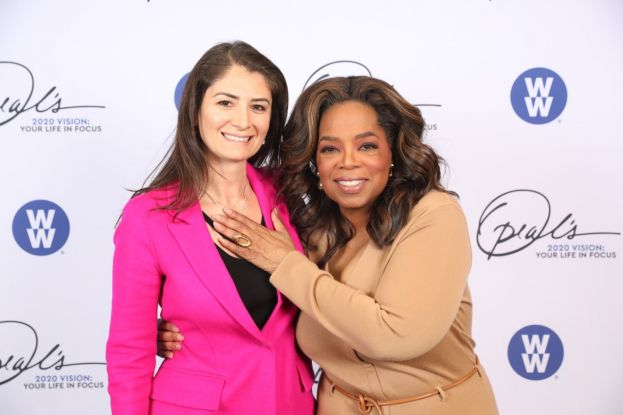 Belgin Aksoy meets with Oprah in New York