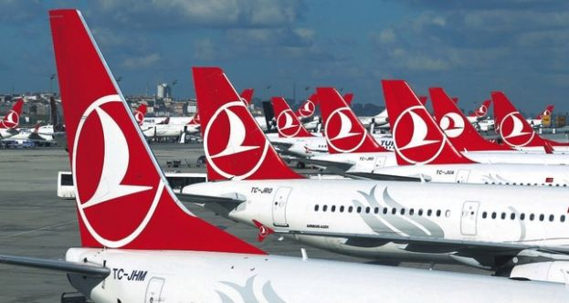 Turkish Airlines aircrafts at Atatürk International Airport in Istanbul.