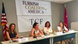 Panelists speaking at the 'Success Stories of Turkish American Women in Washington