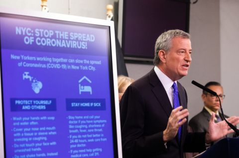 "NYC Mayor De Blasio: ""We are taking serious precautions against the coronavirus."""