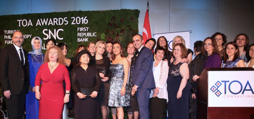The Most Influential Turkish American Women Award ceremony at Marriott Marquise Hotel in New York, in March 2016.