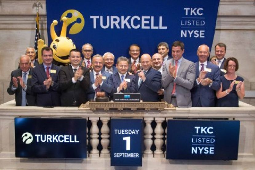 Turkcell's Chairman of the Board Mr. Ahmet Akca and Turkcell's CEO Kaan Terzioglu rang the Closing Bell on the NYSE on September 1st, 2015 to mark Turkcell's 15th anniversary on the New York Stock Exchange.