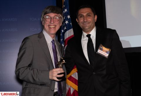 Brian Rose with Reyhan Ozgur, Deputy Consul General of Republic of Turkey in New York.