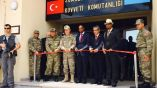 Somali Prime Minister Hassan Ali Khaire and the Chief of the Turkish military, General Hulusi Akar, in Uniform, along with Turkish Ambassador to Somalia, Olgan Bekar, jointly cut the ribbon for the inauguration of Turkey's largest foreign military base in