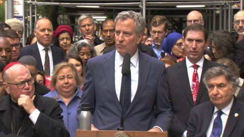 "Mayor de Blasio: ""We Stand With You. We Will not Let Anyone Harm You."""