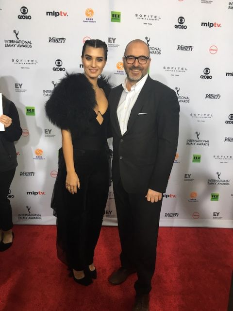 Jimmy Cuneyt Gurkan with Turkish actress Tuba Buyukustun.