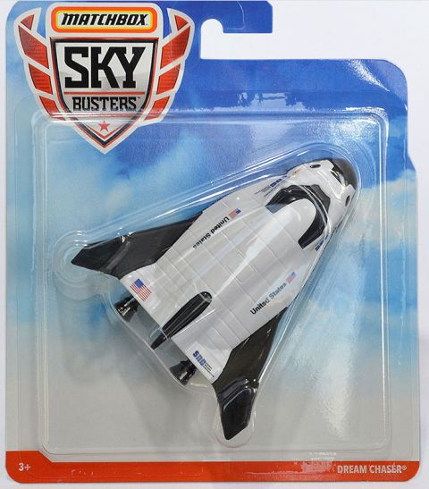 Sierra Nevada's Dream Chaser space plane is now a Matchbox Sky Busters toy. (Sierra Nevada Corp.)