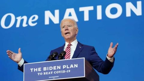 "Democratic Presidential Candidate Biden:"" If I get elected, the coronavirus vaccine will be free."""