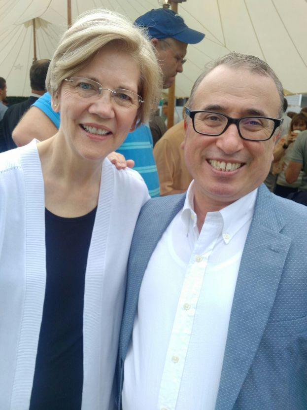 Güzel with Senator Elizabeth Ann Warren, a member of the Democratic Party, since 2013 she has served as the senior United States Senator from Massachusetts.