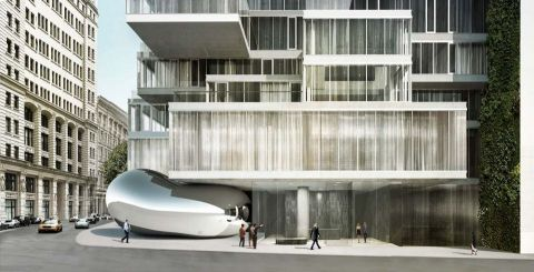 A rendering of Anish Kapoor's sculpture at 56 Leonard Street in New York © Anish Kapoor