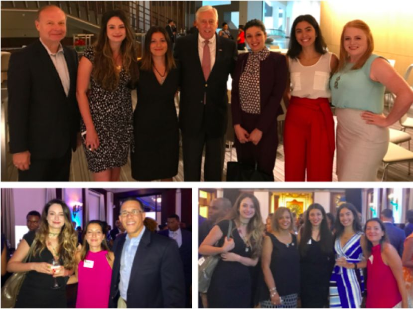Top Photo: House Minority Whip Steny Hoyer (D-MD/5th) with the Turkish American women's delegation, TCA President G. Lincoln McCurdy, and TCA Project Coordinator Liz Clark. Bottom Right Photo: Rep. Robin Kelly (D-IL/2nd), member of the Foreign Affairs Committee, with the Turkish American women's delegation. Bottom Left Photo:  Rep. Anthony Brown (D-MD/4th), member of the Armed Services Committee, with the Turkish American women's delegation.