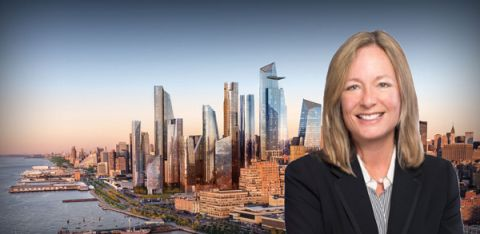 Rendering of Hudson Yards and Greystone's Allison Berman