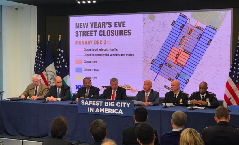Mayor de Blasio and Police Commissioner O'Neill Hold Media Availability to Discuss New Year's Eve Security.