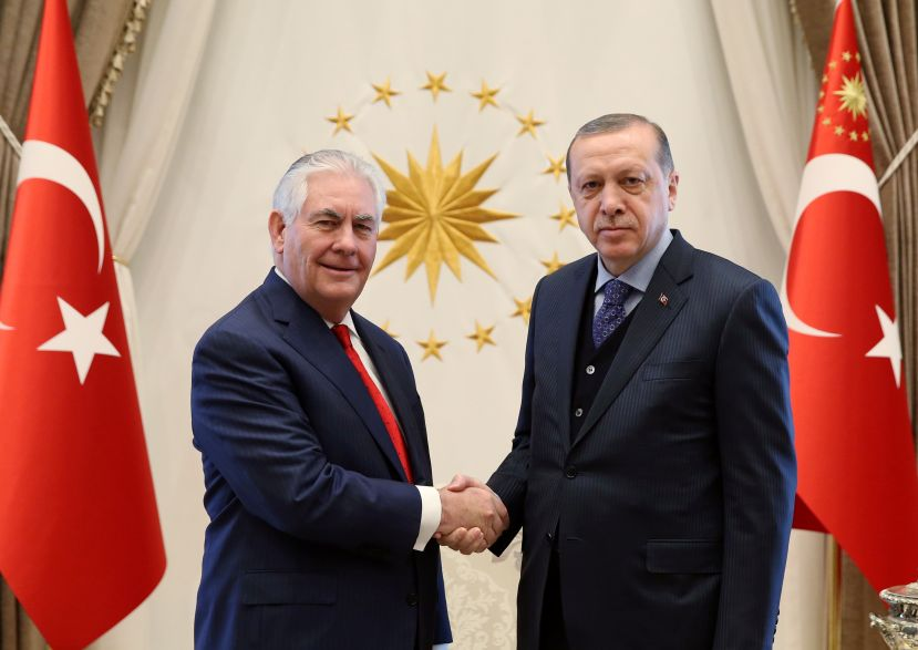 Amid US-Turkey Tensions, US Secretary of State Rex Tillerson Meets Turkish Leaders