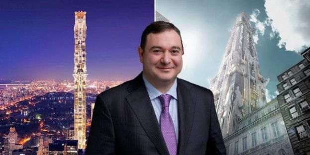 Sedesco president Demir Sabanci and renderings of 41 West 57th Street