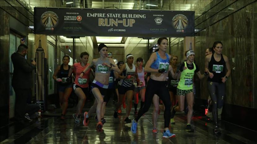 Runners Climb Empire State Presented by Turkish Airlines