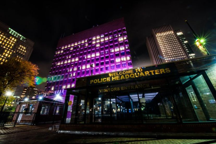 NYPD Goes Purple on Domestic Violence Awareness Month