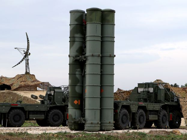 A Russian S-400 missile system. Photographer: Paul Gypteau/AFP via Getty Images