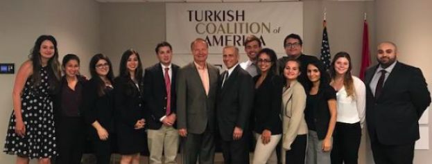 Turkish American Judge Jay Karahan  Meets with TCA Summer Interns
