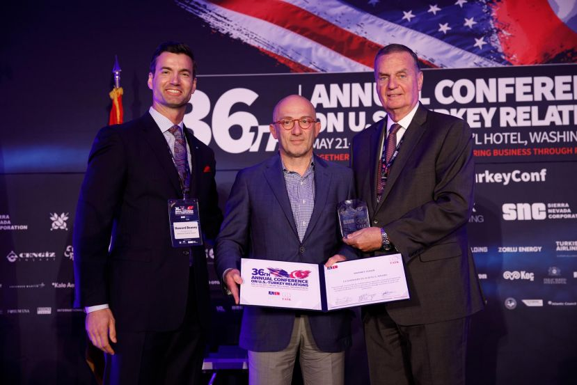 Howard G. Beasey, President & CEO, American-Turkish Council; Mehmet Toner, General James L. Jones, USMC (Ret.) Chairman, American-Turkish Council;