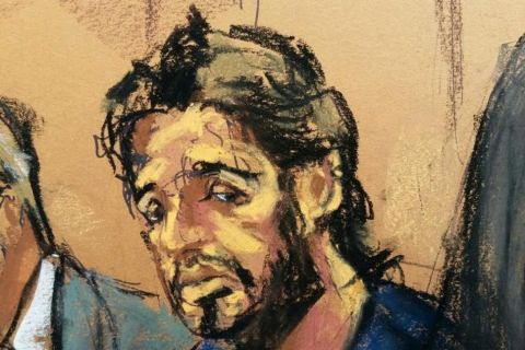 FILE PHOTO: Turkish gold trader Reza Zarrab is shown in this court room sketch as he appears in Manhattan federal court in New York, U.S., April 24, 2017. REUTERS/Jane Rosenberg Reuters