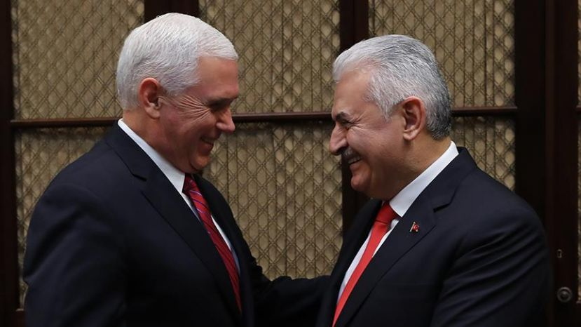 VP Pence with PM Yildirim at White House