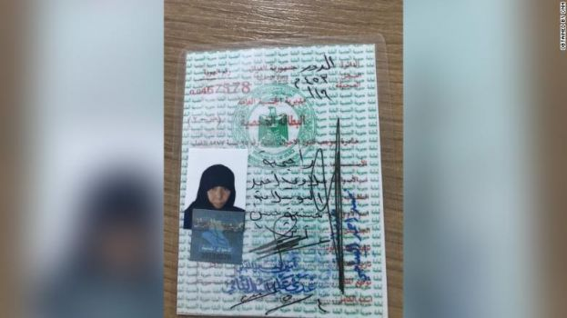 A photo handout provided by Turkish officials, of who they say is Rasmiya Awad, the sister of slain ISIS leader Abu Bakr al-Baghdadi.